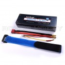 [HARD CASING FOR RC CAR] 7.4V 6000mAh 60C Discharge / 120C Burst LiPo Battery, T Plug, 2S, ~139x47x26mm, ~319g