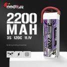 Coddar 11.1V 2200mAh 120C LiPo Battery