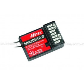 PN27525 Hitec Maxima 9 High Response 2.4GHz AFHSS 9-Channel Full Range Receiver (Only compatible with Aurora 9X transmitter)