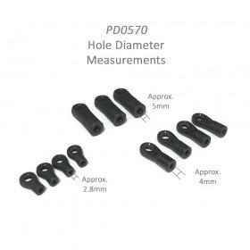 PD0570 Tie-End Set, EB/K, for [6227F] EB-4 S2.5 Pro / [6243] EB4 S2.5 PRO