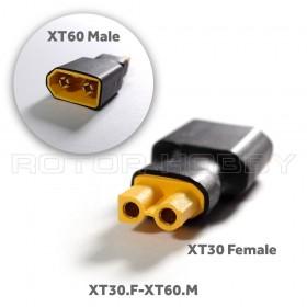 XT30 Female to XT60 Male Connector Adapter XT30.F-XT60.M