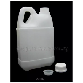 EX1187 EXCELLENCE Heavy Duty Rectangle Plastic Fuel Bottle (For 2 Litres) (Translucent White), for nitro / glow fuel