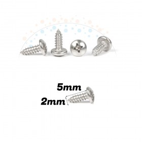 Self-Tapping Pan PHIL Screw 2x5mm (20pcs), 304 Stainless Steel