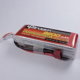 14.8V 2200mAh 60C LiPo Battery, T plug, ~108x34x30mm, ~225g, LPB4S60C2200-2