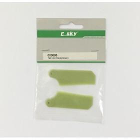 000686 ESKY Tail Rotor Blade (green), for Belt CP V2 (a.k.a. EK1-0420G) / TWF000686 / 686 / EK10420G