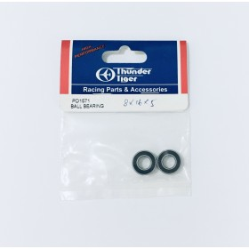 PD1571 THUNDER TIGER Ball Bearing 8x16x5mm (2pcs), Rubber Sealed Two sided, for eMTA / MTA / Rc monster trucks etc