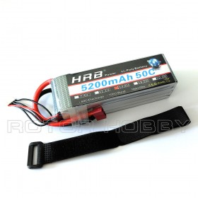 14.8V 5200mAh 50C LiPo Battery, T plug, 4S, ~135x43x40mm, ~475g