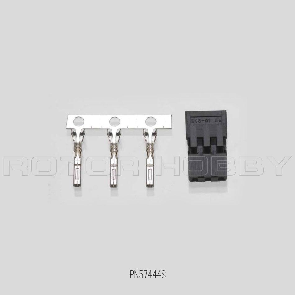 S-01 Housing & Pin (One Set), for Hitec / JR, 3 Pin